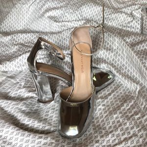 Silver Ankle Strap Pumps Who What Wear